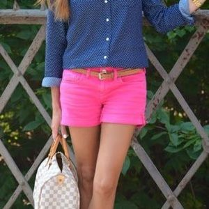 """J. Crew 3"""" Chino Shorts in Bright Pink"""